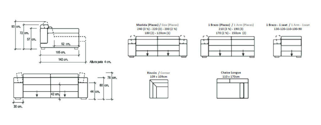 Modulación sofá modelo Carme