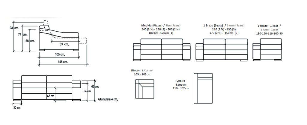 Modulación sofá modelo Clark