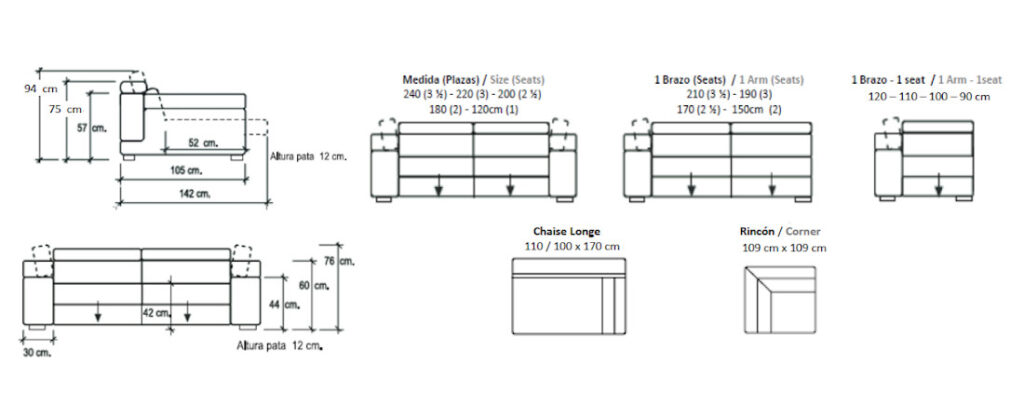 Modulación disponible sofá Kofu