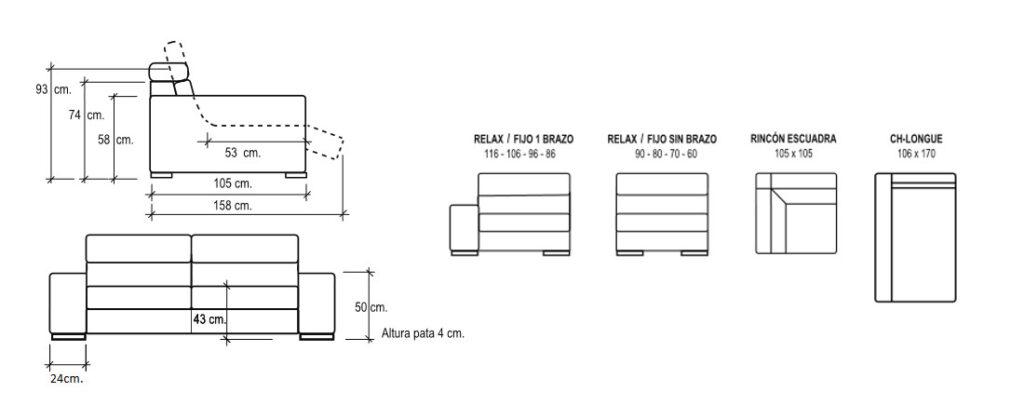 Modulación sofá Zao