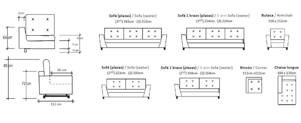 Modulación disponible sofá Only