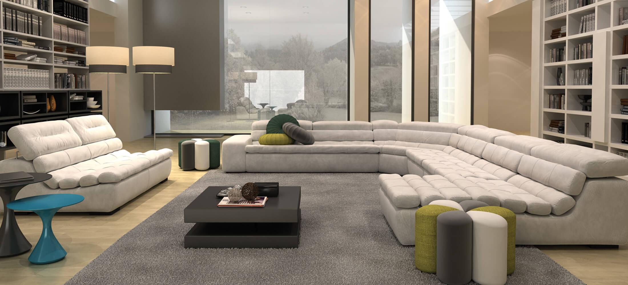 Ambiente sofá rinconera Kobe