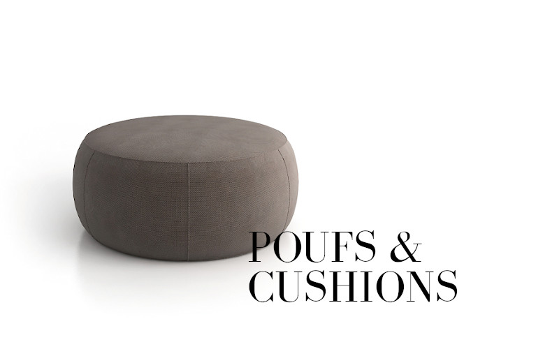 poufs and cushions collection